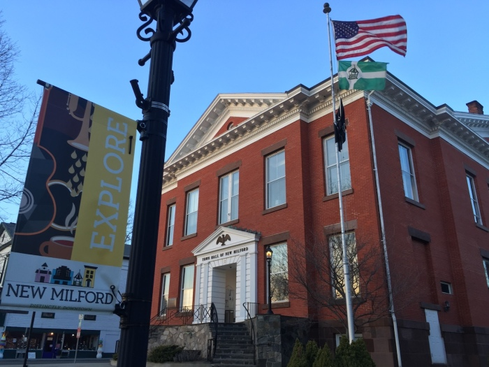 New Milford Town Hall.  Photo by Colin Cogle.